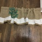 Upcycled Primitive Rustic Valance/Curtain, Recycled Coffee Beans Bag Valance