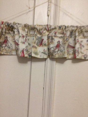 Topsy Turvy Toile Handmade Boys & Girls Window Valance Curtain