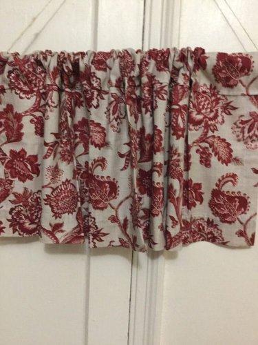 red multi handmade decorative window valance