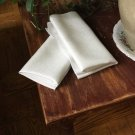 10 White Polyester  Table Napkins Wedding Party Decorations