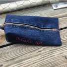 Upcycled Denim Jeans Cosmetic/Toiletry/Make Up Bag