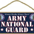 """Army National Guard 5"""" x 10"""" Military Wood Sign Plaque ~ Made in USA ~"""
