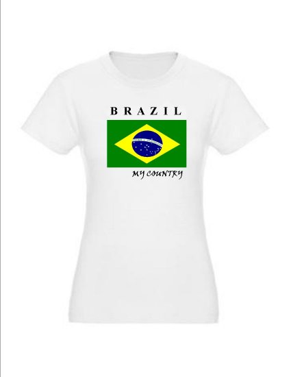 """My Country Patriotic T-shirts """"Brazil"""""""