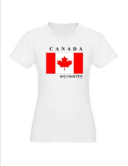 """My Country Patriotic T-shirts """"Canada"""""""