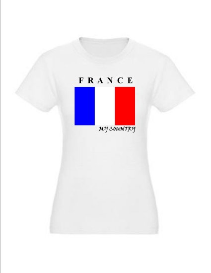 """My Country Patriotic T-shirts """"France"""""""