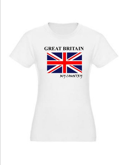 """My Country Patriotic T-shirts """"Great Britain"""""""