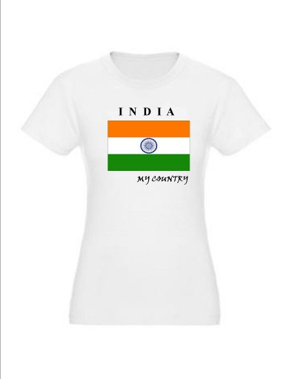 """My Country Partriotic T-shirts """"India"""""""
