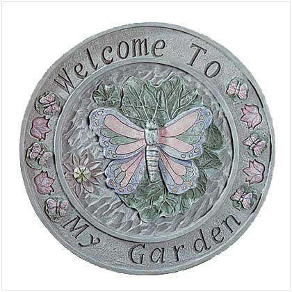 Butterfly Welcome Plaque  30099