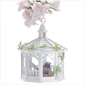 White Gazebo Bird Feeder  30209