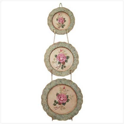 Rose Decorative Plates With Rack  34129