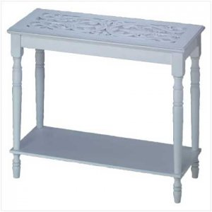Intricately Carved-Top Table  34709