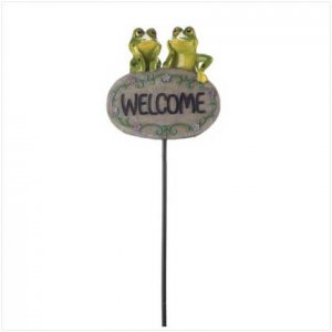 Friendly Frogs Welcome Sign  37969