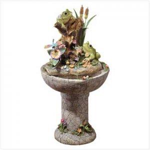 Colorful Frog Garden Fountain  34678