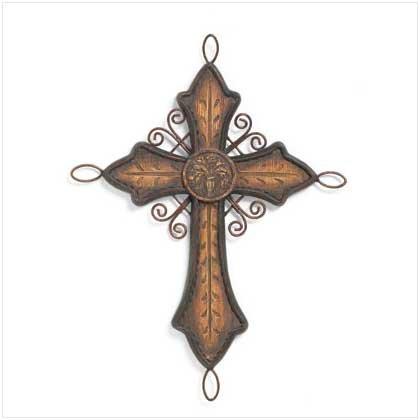 Old World Cross Decor  37304