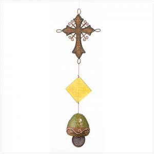 Old World Cross and Bell Chime  37307