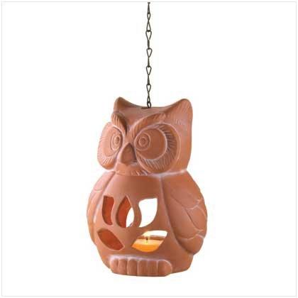 Terra Cotta Owl Tealight Holder  37600