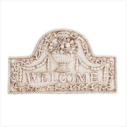 Flower Basket Welcome Plaque  34173
