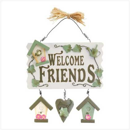Welcome Friends Spring Plaque  36613
