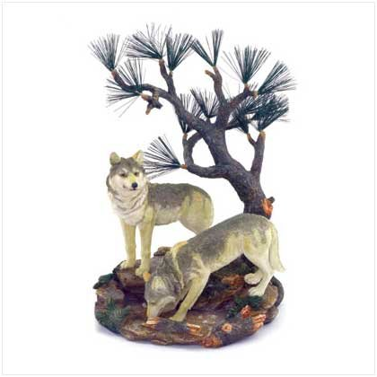 Wolves with Pine Tree Figure  37976