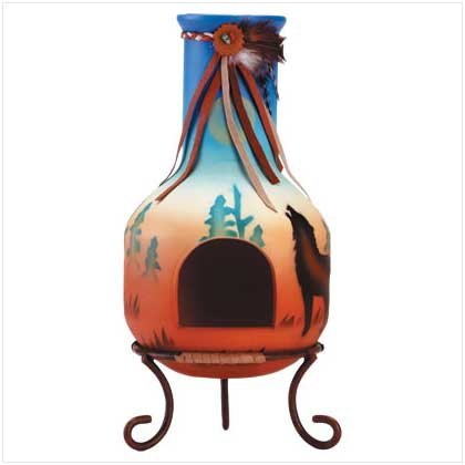 Chimenea Candleholder  34741