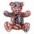 Patriotic Patchwork Bear Bank  33824