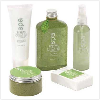 Cucumber Organic Spa Set  38065
