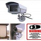 Outdoor Fake Dummy Surveillance Security Camera & Decal