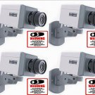 4 Fake Dummy Security Cameras Scan & Motion Free Decals & Free Shipping