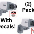 2 Fake Dummy Security Cameras Scan & Motion w\ Decals & FREE SHIPPING!