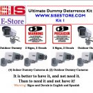 Ultimate! Dummy Camera Deterrence Kit w\ Signs & Decals & FREE SHIPPING!
