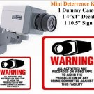 Indoor Dummy Deterence Kit Fake Camera,Sign & Decal FREE SHIPPING!