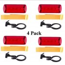 Bike Safety Light 4 Pack - Flashing Red LED 6 Patterns Free Shipping!