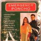 4 PACK EMERGENCY HOODED RAIN PONCHO -CLEAR