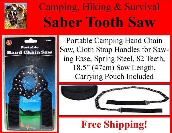 SIS Ultimate Portable Survival Camping Saber Tooth Cut Hand Saw Free Shipping!
