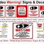 One (1) Commercial Grade Outdoor/Indoor Security Surveillance CCTV Video Warning! Sign #204