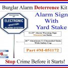 """Commercial Grade Security Burglar Alarm System Warning Sign on 36"""" Stake #102YS"""