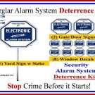 Commercial Grade Security Burglar Alarm Warning! Deterrence System Signs & Decals Kit #102SYS