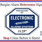 1 Commercial Grade Burglar ALARM System Deterrence Warning! Sign #102
