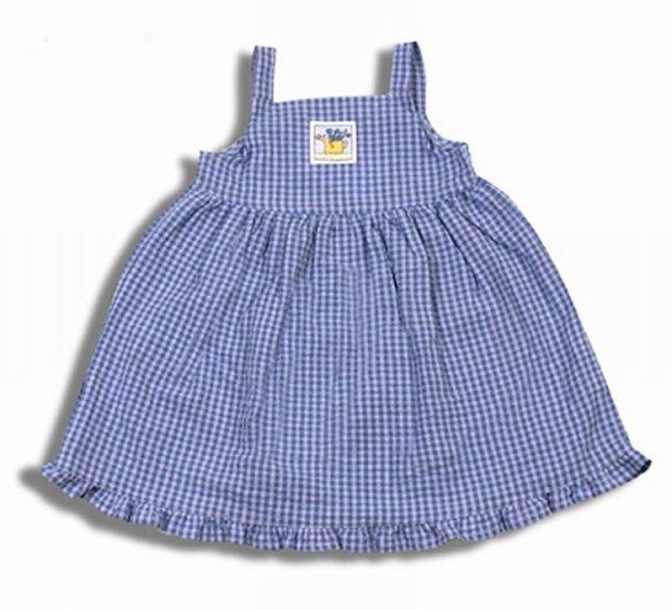 Toddler Girls Dress Boutique Blue Gingham Summer Sundress by Mulberribush 4T New