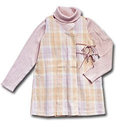 Boutique 3 Piece Set Plaid Jumper with Pink Turtleneck and FREE Bonus Skort ONE KID Girls Size 6