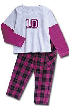 Boutique C.W.D. Pants Set Pink White Plaid No. 10 Girls Size 10-12 New from CWD Kids