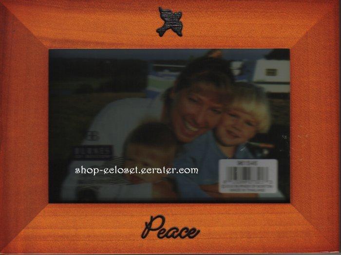 4 x 6 Wooden Photo Frame Peace Dove Family Picture Burnes of Boston