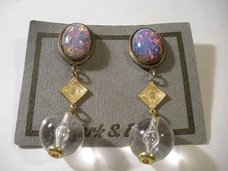 1980 Vintage Department Store Brand New Clip On Earrings