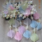 Spring Pastel Big and Bold Beaded 80's Beaded Earrings