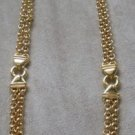 80's Vintage Liz Claiborne Double Chained Necklace