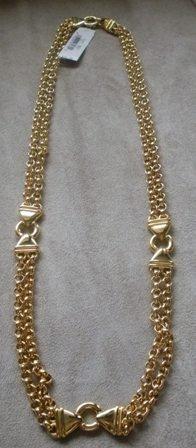 80's Vintage Liz Claiborne Double Chained Necklace