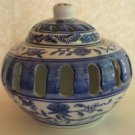 Decorative Blue Ceramic Candle Holder
