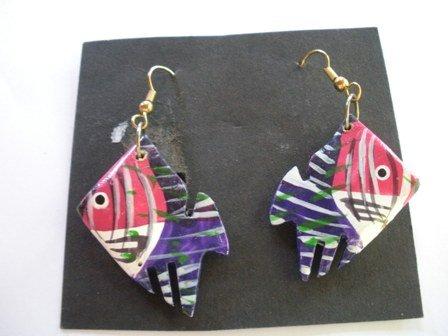 Vintage 80�s Angel Fish Hook Earrings