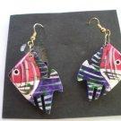 Vintage 80's Angel Fish Hook Earrings