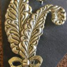 Vintage C Clasp Free Flowing Feather Brooch/Pin